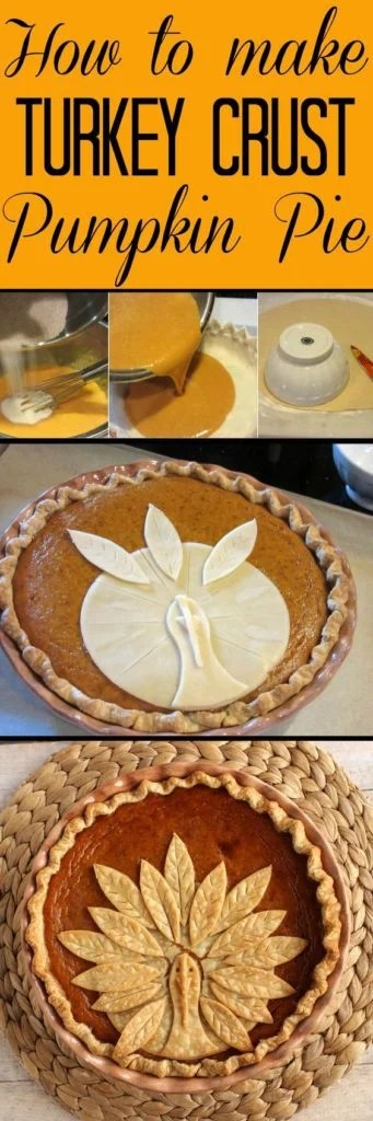 Turkey Crusted Pumpkin Pie - Kudos Kitchen by Renee