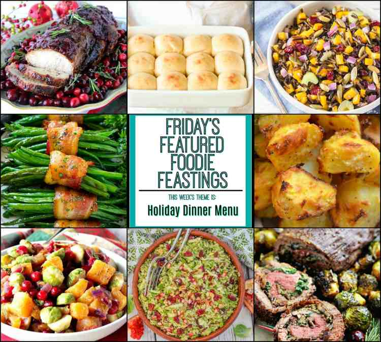Holiday Dinner Menu Recipe Roundup Featured Image Collage 2017