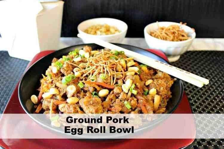 Ground Pork Egg Roll Bowl Recipe Kudos Kitchen Style