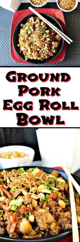 Tasty Chinese Ground Pork Egg Roll Bowl Kudos Kitchen Style   Kudos Kitchen by Renee
