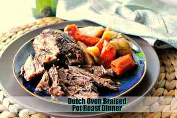 Best Ever Dutch Oven Braised Pot Roast Dinner | Kudos Kitchen by Renee