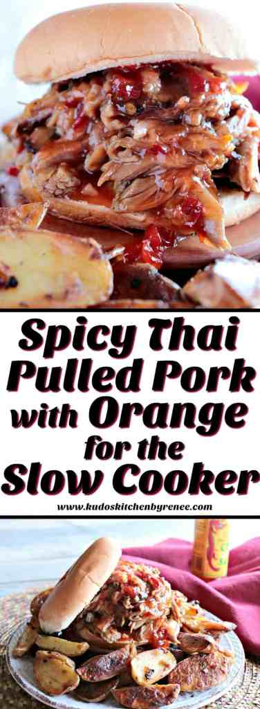 Spicy Thai Pulled Pork with Orange for the Slow Cooker - www.kudoskitchenbyrenee.com