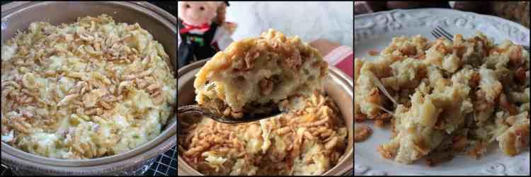 How to make Layered German Spaetzle with Cheese & Crispy Onion Casserole - www.kudoskitchenbyrenee.com