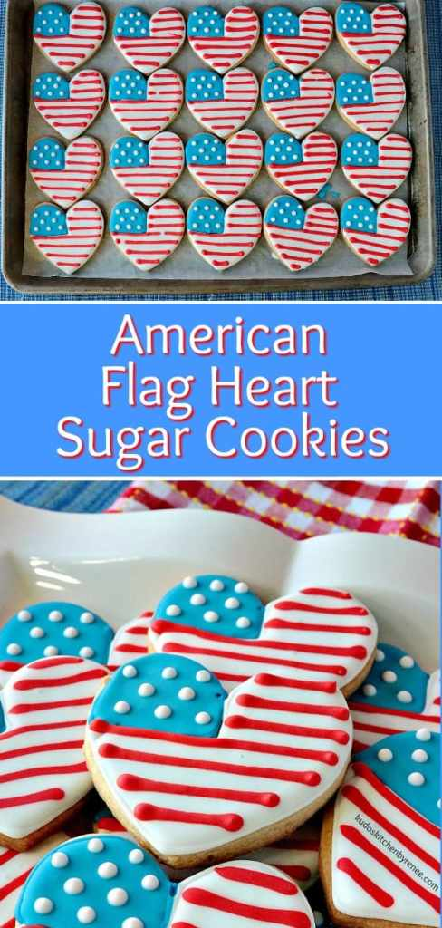 While these adorable red, white, and blue Americana cookies do take a bit of time to prepare and decorate, American Flag Heart Decorated Sugar Cookies are definitely worth the effort! They're sure to be a hit at your next patriotic party or event. - kudoskitchenbyrenee.com