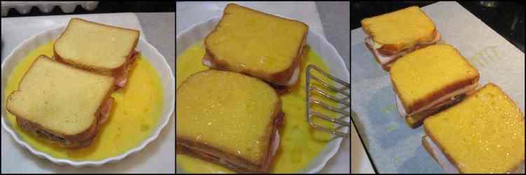 How to make Blueberry Monte Cristo French Toast photo tutorial. - www.kudoskitchenbyrenee.com