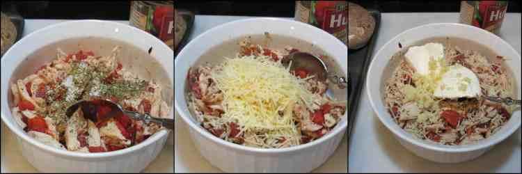 How to make Speedy Keto Chicken Parmesan Stuffed Portobello Mushrooms photo tutorial. - kudoskitchenbyrenee.com