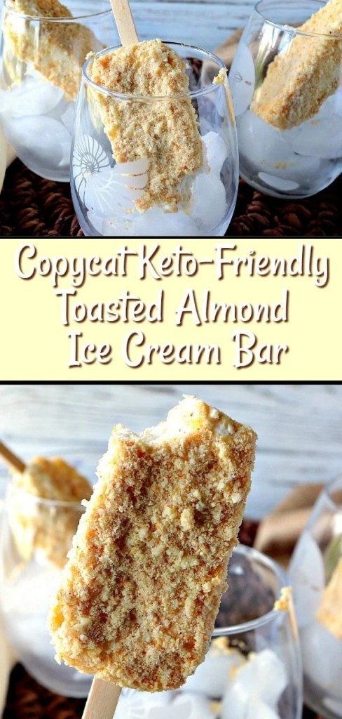 This easy and delicious Toasted Almond Ice Cream Bars recipe will bring back fond memories of childhood, and ice cream trucks. And, if that's not enough and you're watching your sugar and carb intake, it's keto friendly, too! Oh, happy day!! - kudoskitchenbyrenee.com
