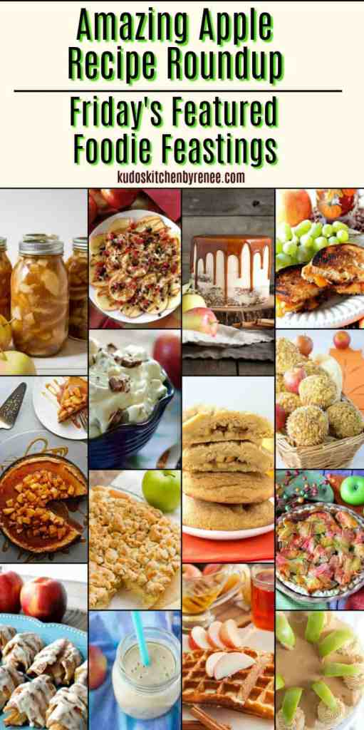 An apple a day keeps the doctor away! Well, if that's true this Amazing Apple Recipe Roundup for Friday's Featured Foodie Feastings will keep you well and happy for a very, very long time! Doctor's orders! - kudoskitchenbyrenee.com