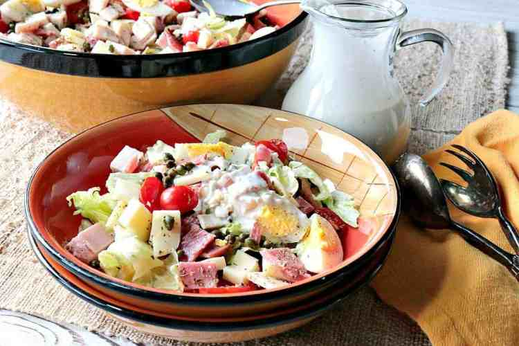 Chef's Salad with Homemade Blue Cheese Dressing