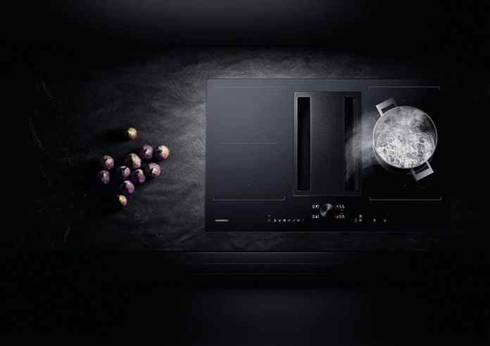 In all popular cooktop extractor models - or bowl venting, as it is called by luxury manufacturer Gaggenau - drip pans absorb up to 500 milliliters of liquid. Even then, keep calm and bleed the base accordingly. (Photo: Gaggenau)