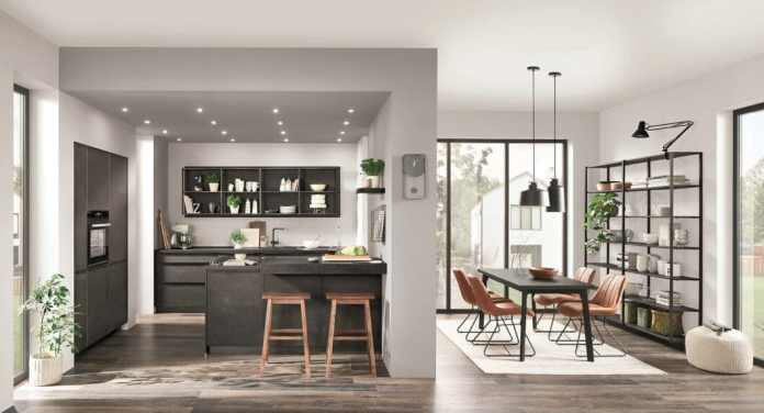 The product BORA GP4 is primarily intended to upgrade small and compact kitchen rooms with a cooktop extractor. It is sold exclusively in the combination of BORA and nobilia. (Photo: nobilia)