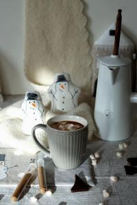 Schneemannsuppe - heiße Schokolade
