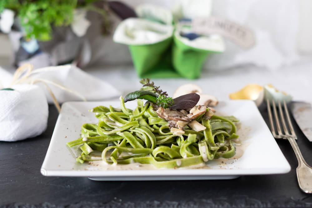 Spinatnudeln – Frühling auf dem Teller