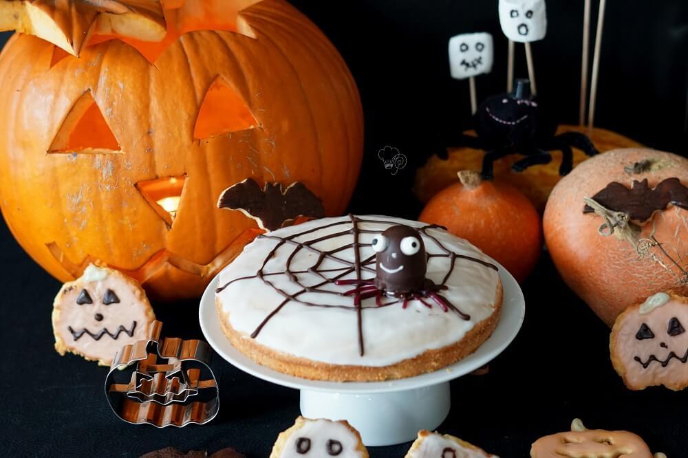 Halloween – Spinnennetzkuchen