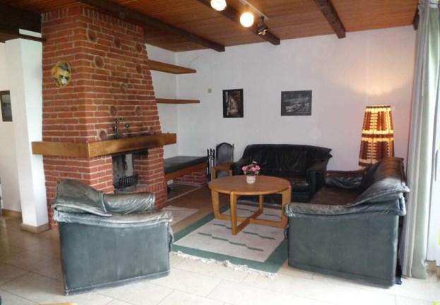 Wohnbereich des Erdgeschosses im Ferien-Landhaus Schlei