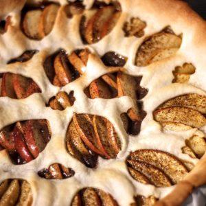 Une tarte de saison – Pomme/crème de marrons