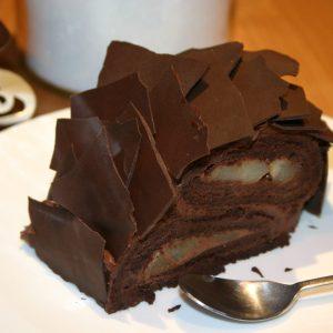 Bûche chocolat/poires