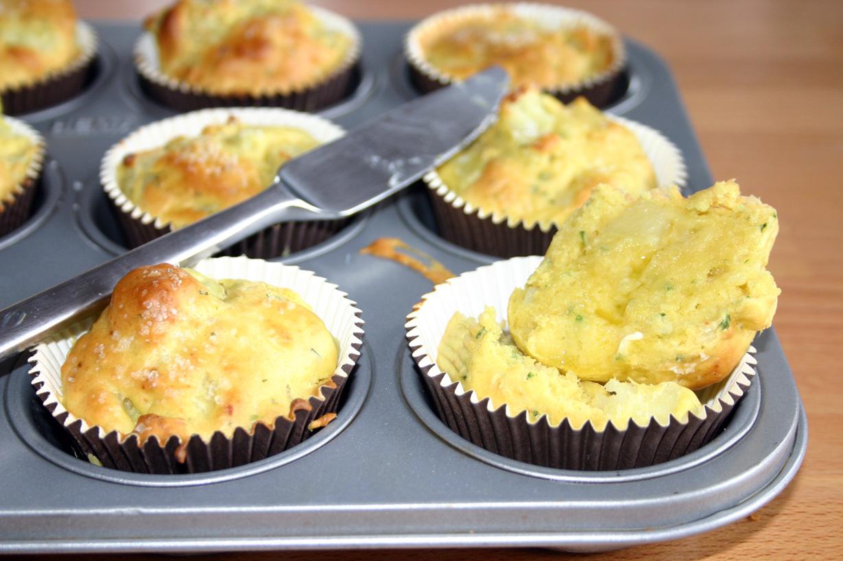 Muffins à la pommes de terre
