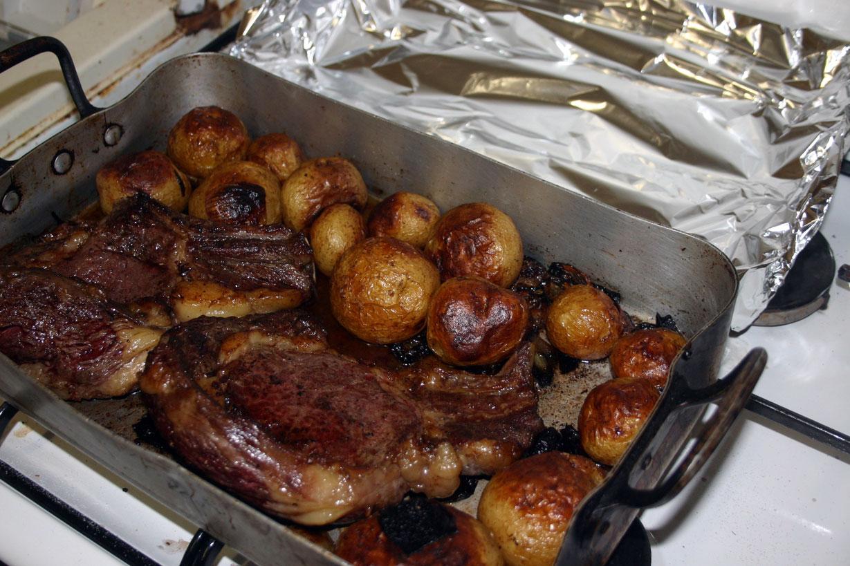 Côte de bœuf et patates de noirmoutier