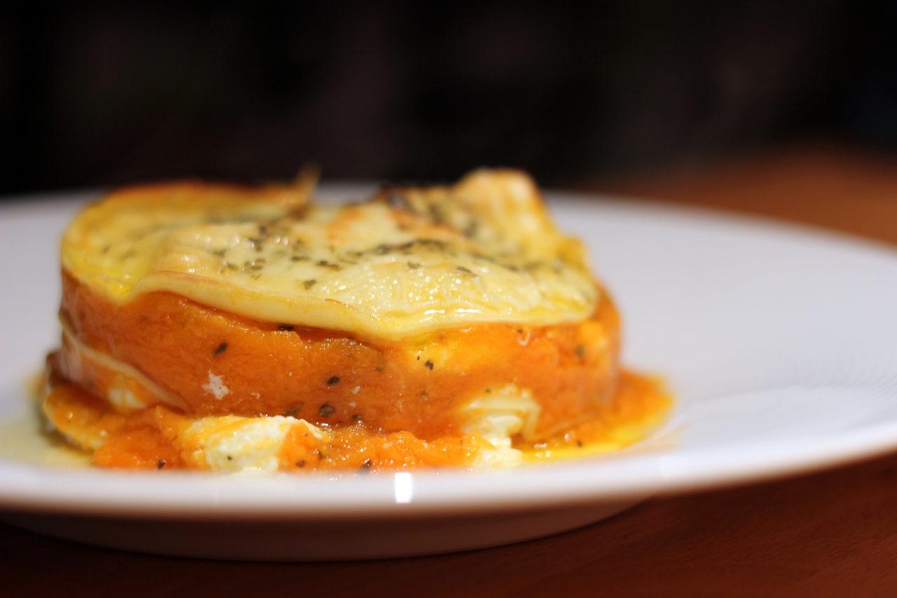 Lasagne de citrouille/ricotta au beurre de sauge