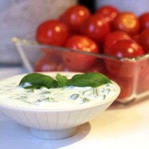 Sauce cive & basilic