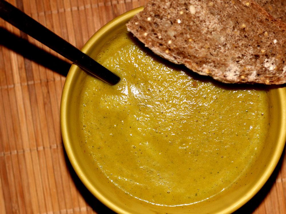 Soupe de courgettes & patate douce