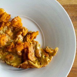 Fritatta à la patate douce et piment