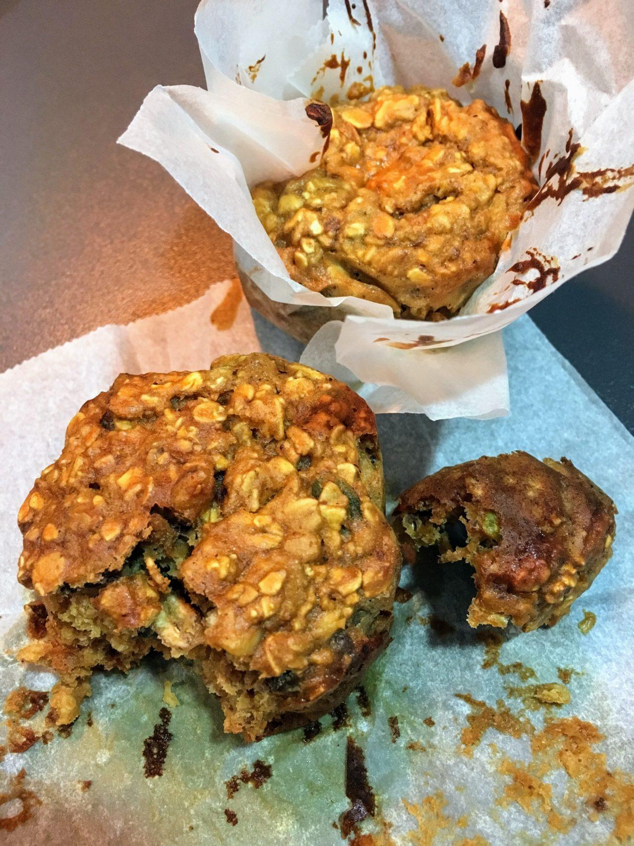 Muffins protéinés au granola