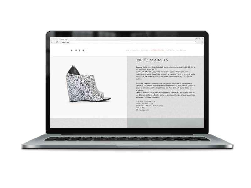 KUINI Estudio de diseño gráfico alicante, web de Kuini Piel