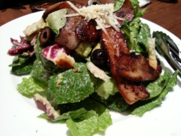 Caesar Salad with home smoked bacon