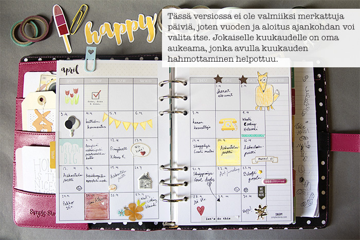 kalenterin tuunaus