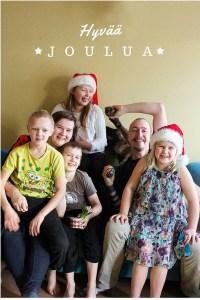 Koko perheen joulukuvaperinne