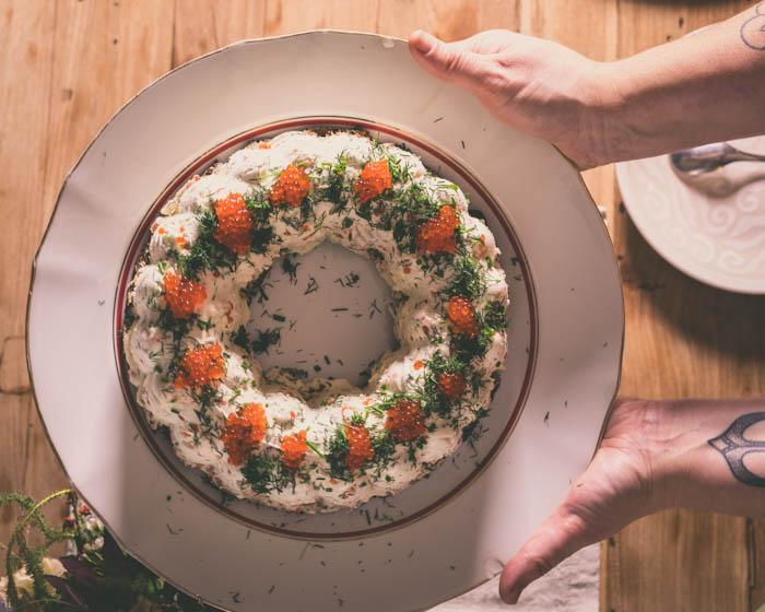 Lohimoussekakku | kalapöytä | lohikakku | lohimousse