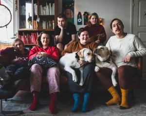 Koko perheen joulukuva perinne