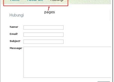 Buat contact form pada blogspot