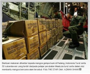 Pasukan bantuan dari Malaysia