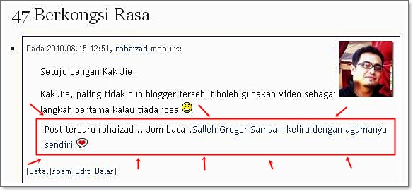 Tips Mudah Blogger :  Komen Salleh Groger Samsa