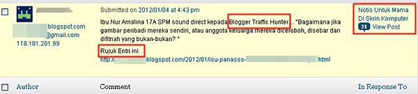 blogger trafik hunter