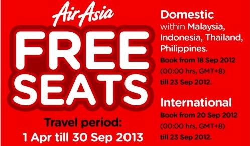 air asia free seats