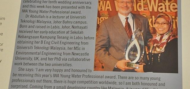 dr norhayati abdullah winner young water professional 2012