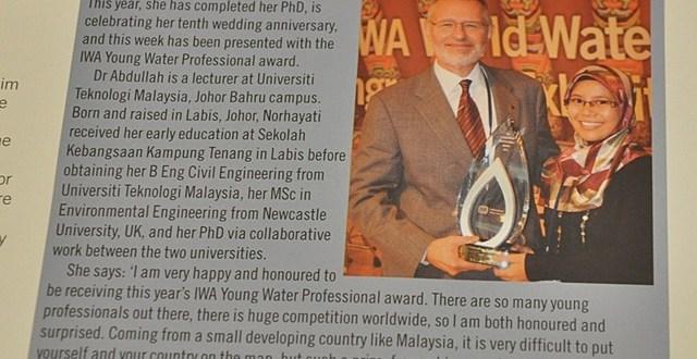 Rakyat Malaysia Pertama Menang IWA Young Water Professional Award