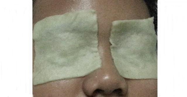cara pakai eye pads timun