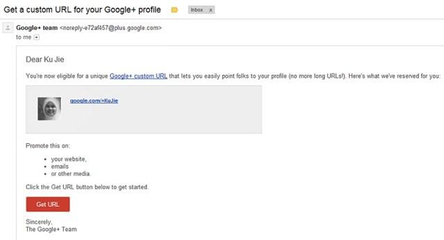 custom url google +