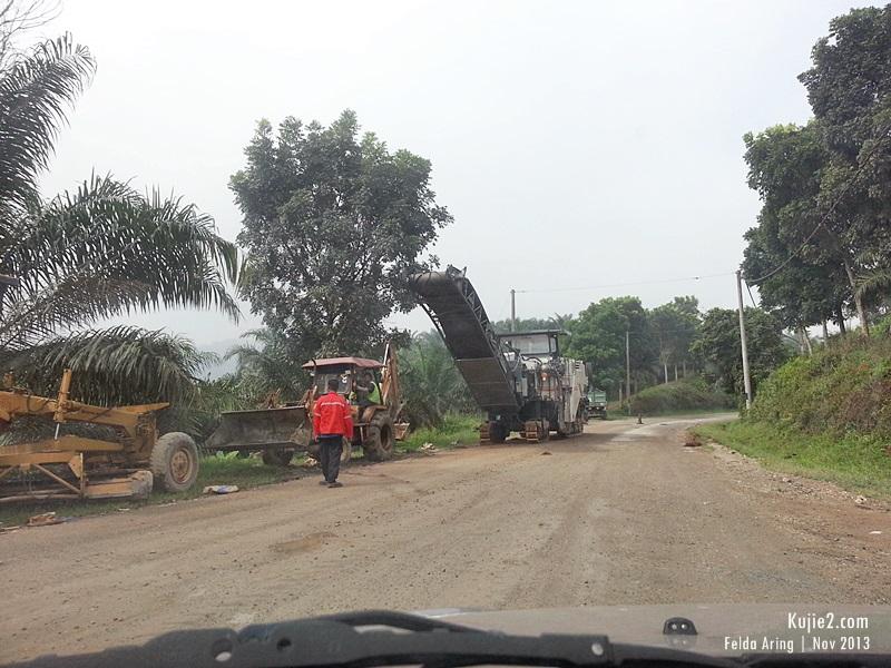 Jalan Felda Aring Ke Tasik Kenyir Terkini 2013