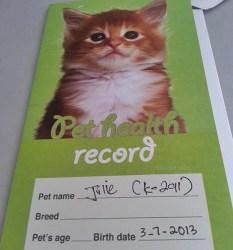kad rawatan kucing di klinik haiwan