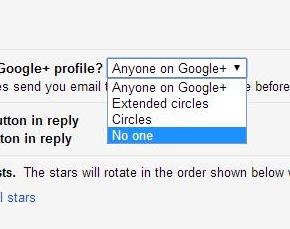 setting google+
