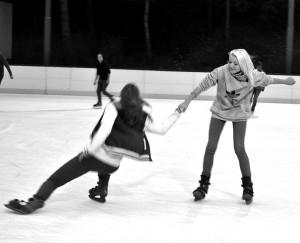 Eisvergnügen.Foto: mr