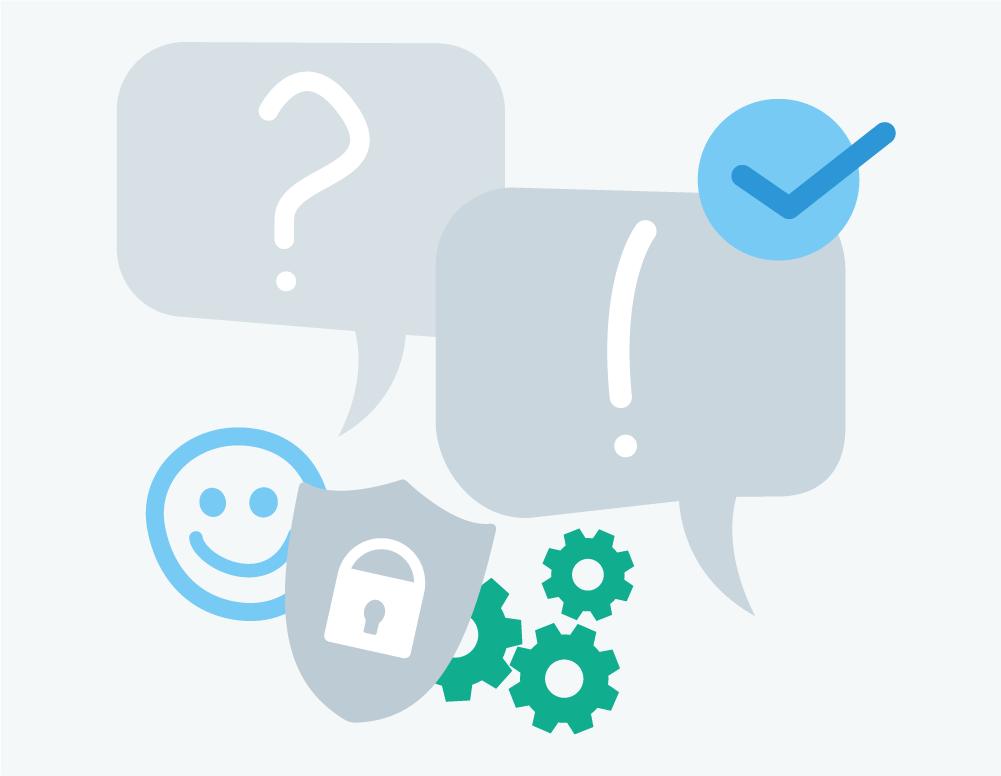 Illustration Service Dienstleistung Support Frage Antwort Hilfestellung