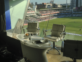 cricket commentary box