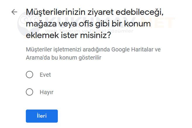 Google Haritalar Firma Ekleme